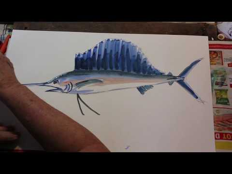 How To Paint A Sailfish