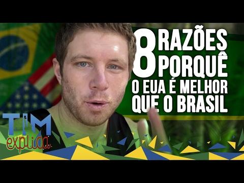 8 RAZÕES que EUA é Melhor do que Brasil