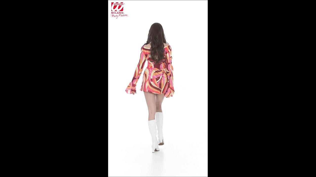 Vestido años 70 - en tres colores - YouTube