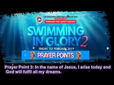 CCG HOLY GHOST SERVICE- SWIMMING IN GLORY PRAYER POINTS