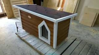 Утепленная будка для маленьких и средних пород собак 120х65х60