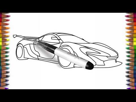 How to draw McLaren P1 step by step drawing a supercar