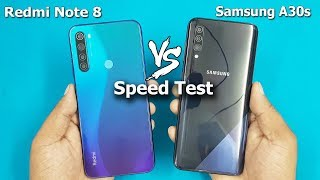 Redmi Note 8 vs Samsung A30s Speed Test / Comparison || Antutu Benchmark Scores / Best?..