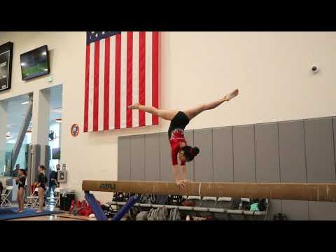 Emma Le 1st Place Beam Pacific Classic 2020 Wildfire Gymnast Level 7