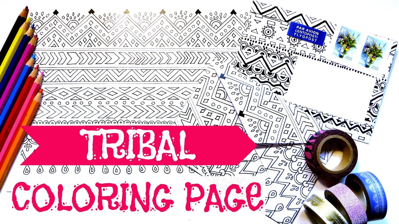 how to make a coloring book page and envelope free printables