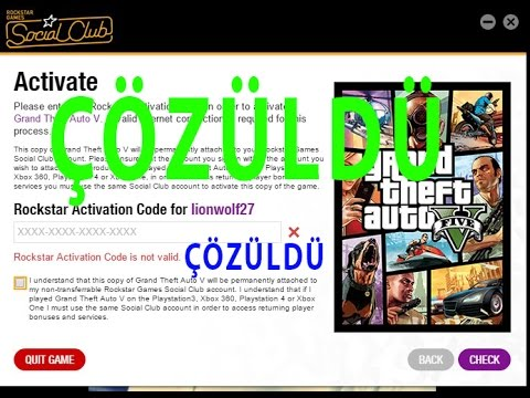 rockstar activation code gta v