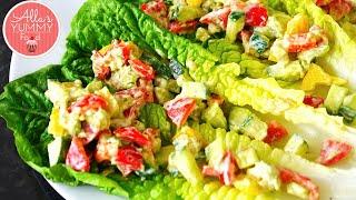 Vegetarian Lettuce Wraps - Сэндвич из листьев салата