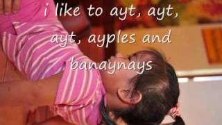 barney apples and bananas lyrics