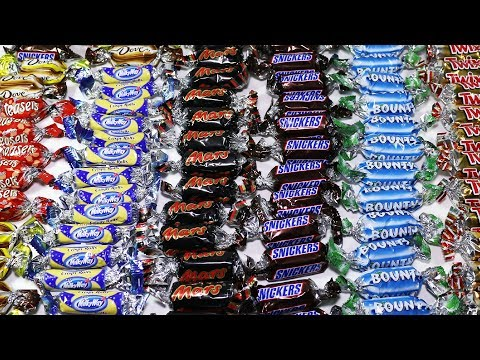 Mini Chocolate Bars Twix Bounty Snickers Mars Milky Way