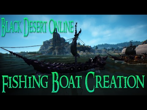 Black Desert 2016: Full Fishing Boat Guide!!! (Dark Thorn Ship Cosmetic Also!)
