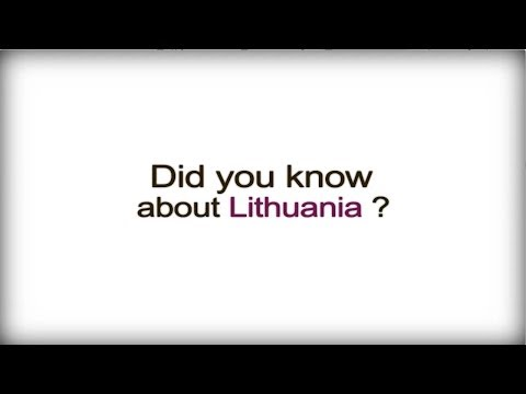 Did you know? - Lithuania - Lithuanian Business Culture video