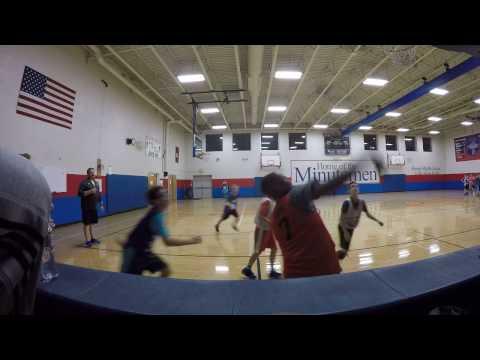 Baron's travel basketball practice