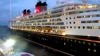 Disney Magic Horn leaving Cozumel HD