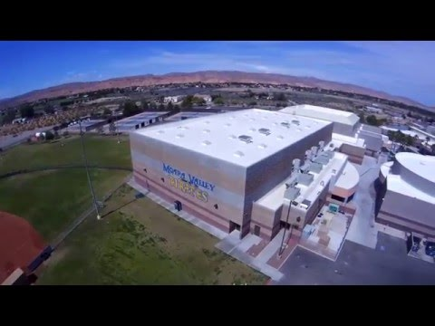 Moapa Valley High School. Drone View