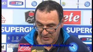 NAPOLI - INTER 2-1 - Maurizio Sarri  & Clementino uniti nella vittoria