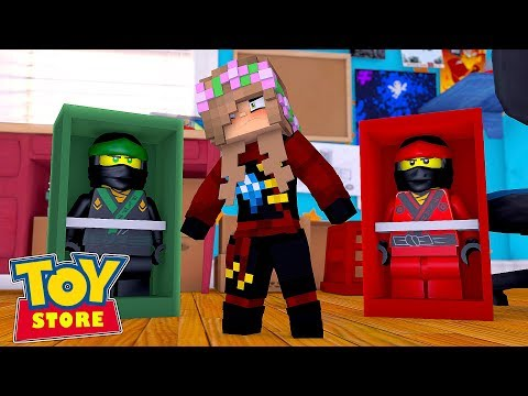 LITTLE KELLY DOLL FINDS THE MISSING LEGO NINJAGO WARRIOR | Minecraft Toystore |  Little Kelly