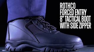 Forced Entry Tactical Boot With Side Zipper - Rothco Product Breakdown