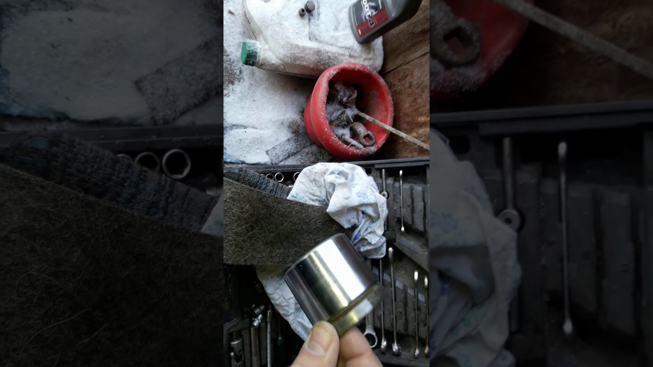 Разбор тормозного цилиндра ауди 80 б3 - YouTube