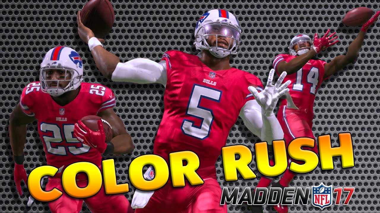 official photos 3fc7b 8290b Buffalo Bills Franchise Madden 17 - Color Rush Uniforms! - PS4 Gameplay -  Sammy Watkins Tyrod Taylor