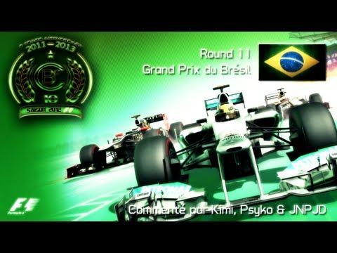 CBF 360 | F1 2012 World Championship | Season 10 - Round 11 : Brazilian GP (Gameplay/Commentary)