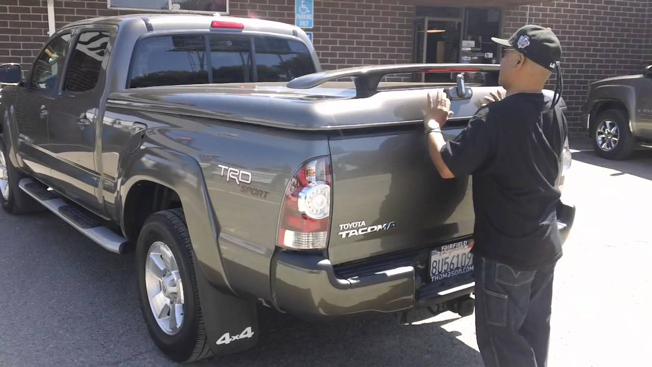 2011 toyota tacoma a.r.e. ls2 tonneau cover, bedrug and grille