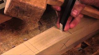 Traditional Woodworking Demonstration  -  Joining (dovetail & Mortise And Tenon)