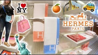 Hermes Luxury Shopping Vlog in New York City! TPM Evelyne, Croc Constance & Kelly Wallets! CDC