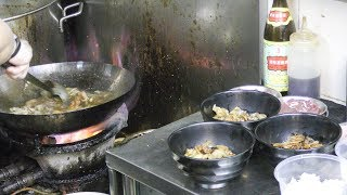 Cooking Black Pepper Pork & Beef Hor Fun and More. Singapore Street Food