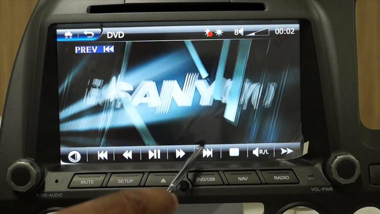 Caska In Dash Double Din Touchscreen Infotainment Navigation Car Music System For Honda Civic