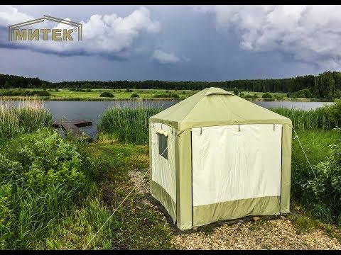 Испытание шатра «Пикник» в грозу. Ливень, гром и сильный ветер. Островок безопасности в непогоду.