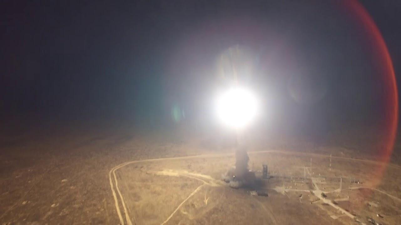 Испытательный пуск МБР РС-12М «Тополь» с полигона Капустин Яр