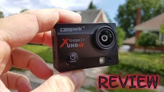 Campark Q3H+ 4K WiFi Action Camera REVIEW & Sample Video and Pictures