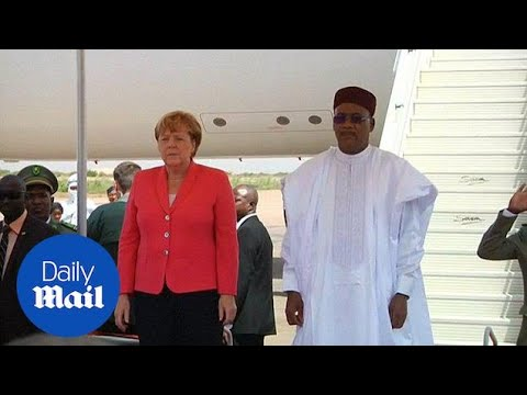 Merkel in Niger on Africa tour meets Mahamadou Issoufou - Daily Mail