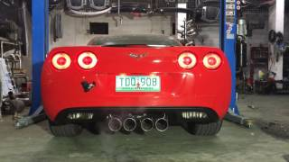 Chevrolet Corvette exhaust system