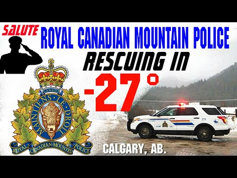 SALUTE TO RCMP( ROYAL CANADIAN MOUNTAIN POLICE). SERVING IN -27°. WE SALUTE YOU.