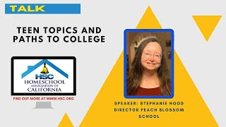 HSC 2020 Virtual Conference Teen Topics & Paths to College