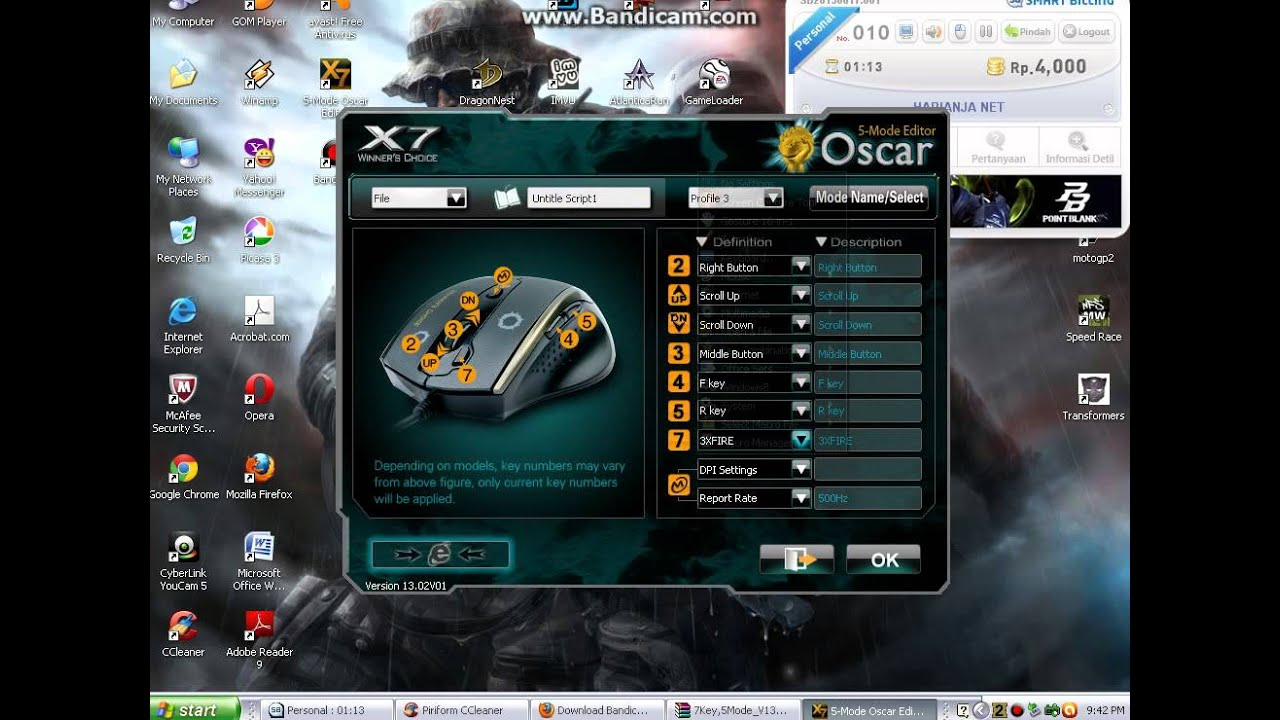 Download settingan macro x7 spider sg