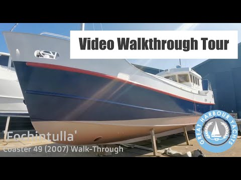 Coaster 49 / Dutch Barge style liveaboard based in Greenock. Walkthrough Yacht Tour. For Sale