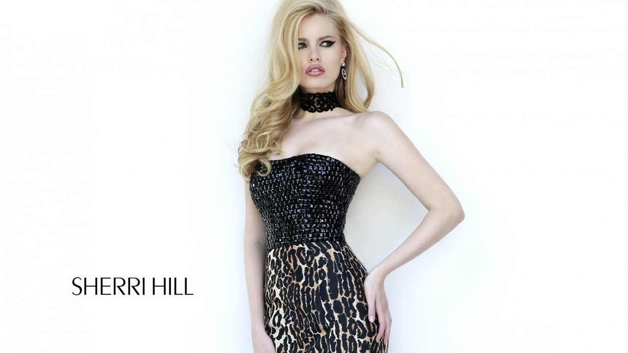 Sherri Hill Cheetah Short Dress