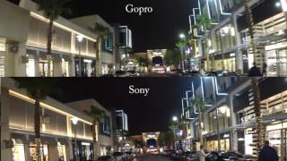 LOW LIGHT TEST - Sony FDR-X3000 vs GoPro hero 5 part deux