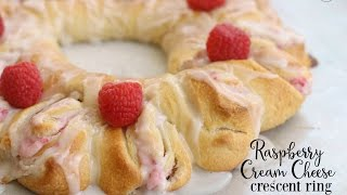 Raspberry Cream Cheese Crescent Rings -  Butter With A Side of Bread