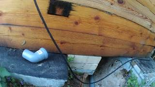 видео Пол в бане - отвод воды в деревянном полу и конструкция слива