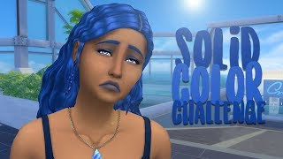 BLUE SOLID COLOR CREATE A SIM // The Sims 4: CAS Challenge