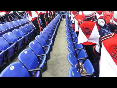 The Baltimore City College High School Marching band getting live!.mp4