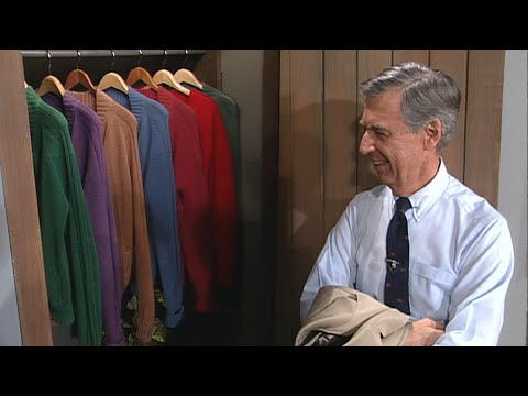 Mr.-Rogers-Gives-A-Tour-of-His-ICONIC-Sweater-Closet-1993-ET-Flashback
