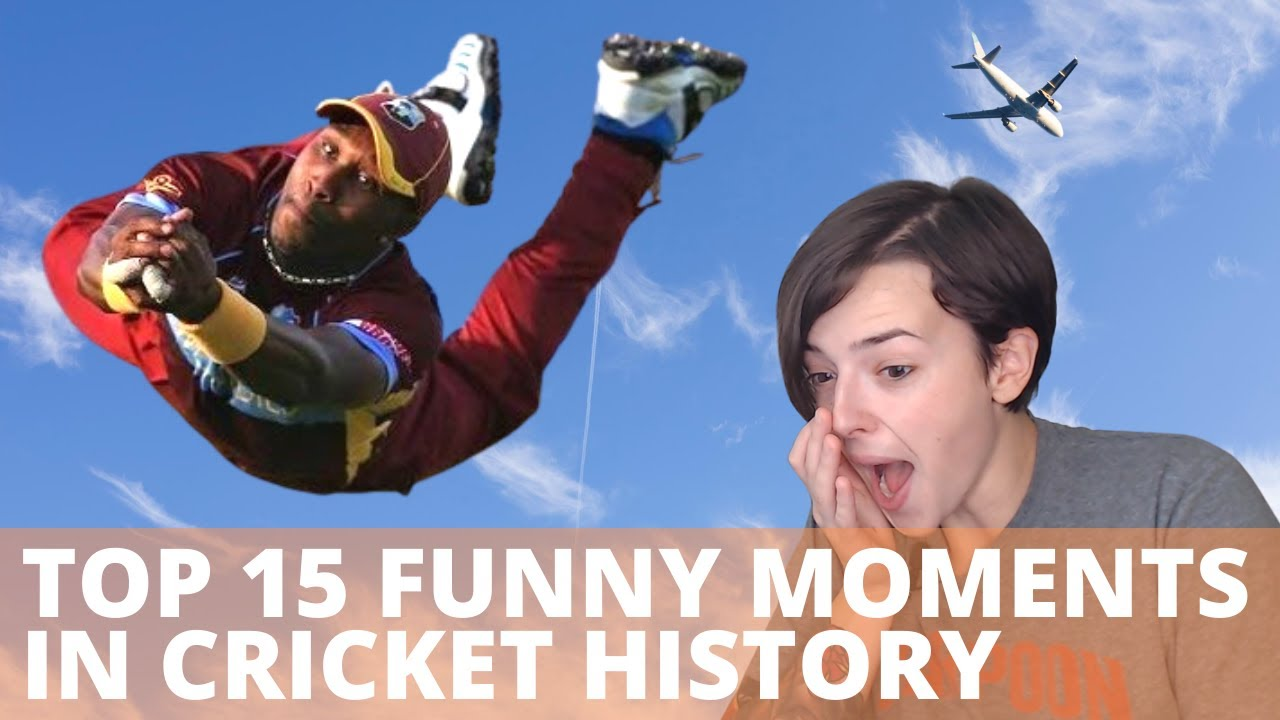 Top 15 Funny Moments in Cricket History | REACTION!!