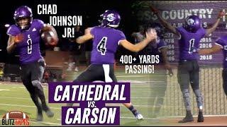 Chad Johnson Jr + Lucas Lenhoff Lead AIR RAID! Cathedral vs Carson! (Full Game Highlights)