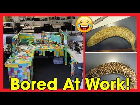 What Happens When People Are Bored At Work | 20+ Funny Pictures