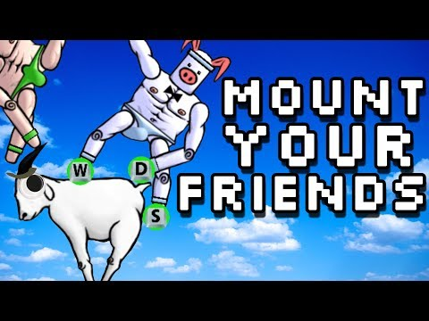 Mount Your Friends - Pigs Climbling Dongs (4 Player Gameplay)
