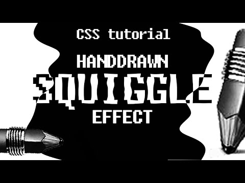CSS Filters - SVG Turbulence Filter Animation [ CSS3 Creative Menu Hover Effects ] Squigglevision